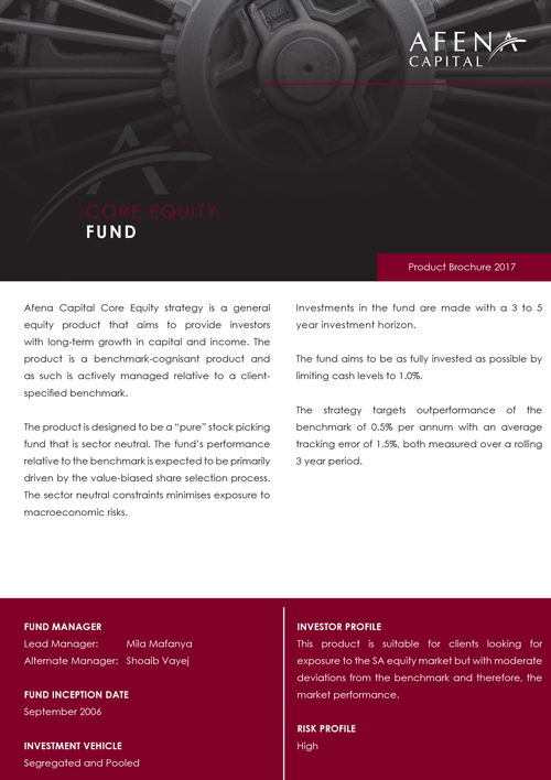 Afena Capital - Investments